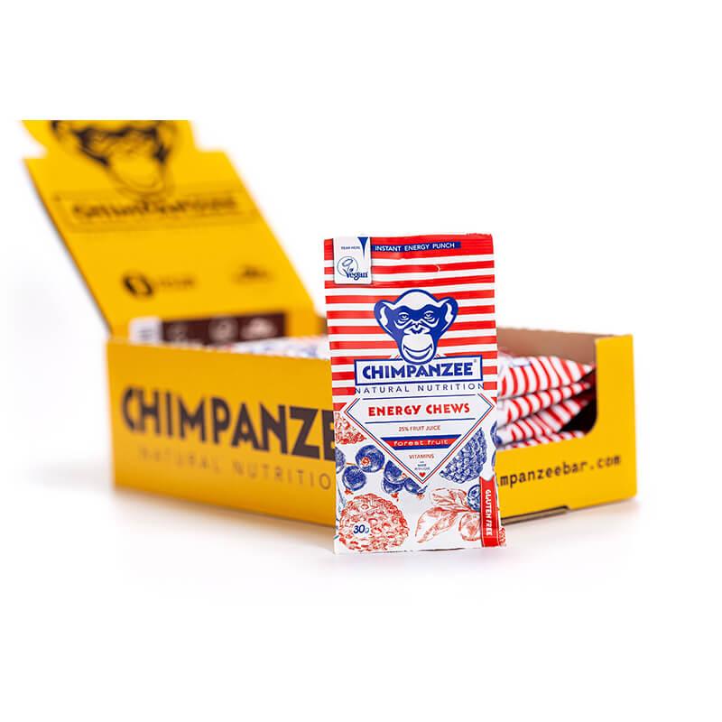 Energijos suteikiantys CHIMPANZEE guminukai 30g x 20 (Dėžutė)