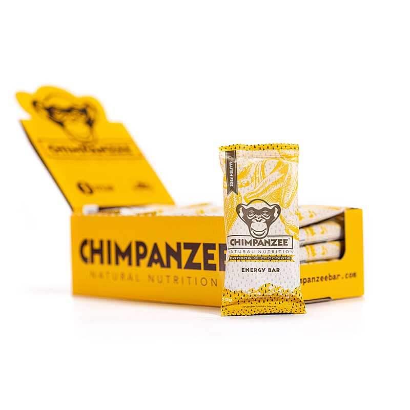 Energetinis batonėlis CHIMPANZEE bananų ir šokolado skonio 55g x 20 (Dėžutė)