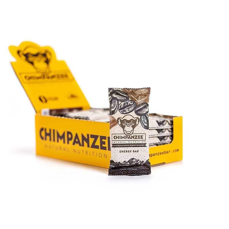 Energetinis batonėlis CHIMPANZEE šokolado ir espreso skonio 55g x 20 (Dėžutė)