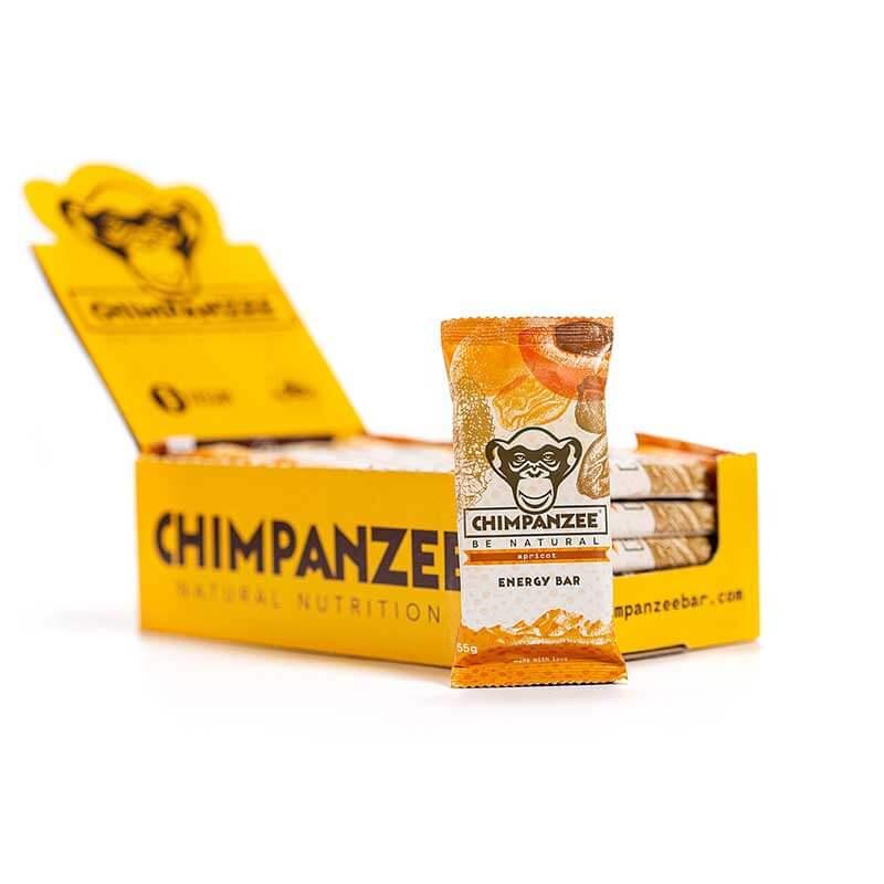 Energetinis batonėlis CHIMPANZEE abrikosų skonio 55g X 20 (Dėžutė)